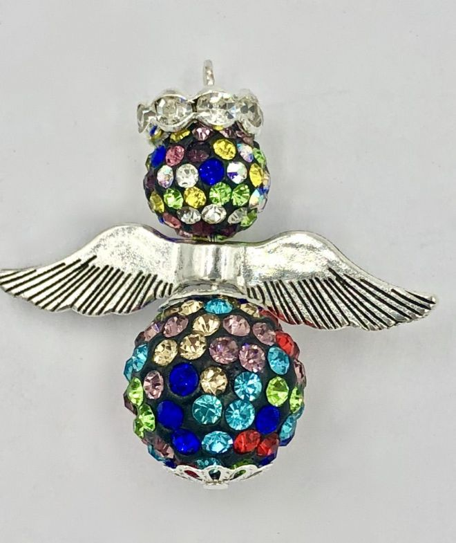 10 x Multi coloured pave crystal angel kit ( 99p each)